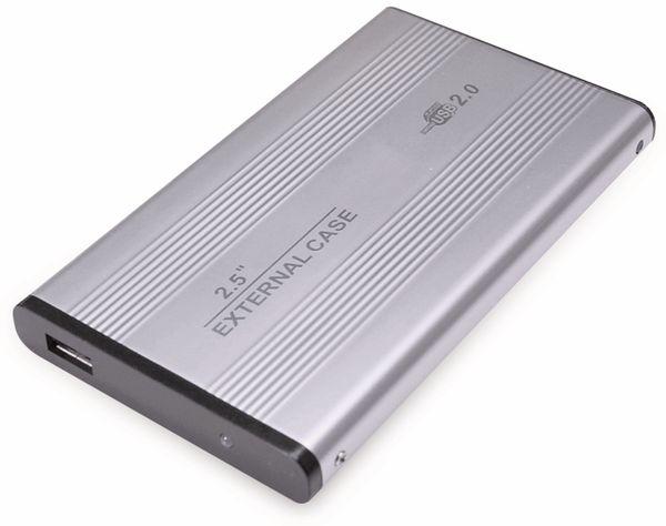 """6,35 cm (2,5"""") Festplatten-Gehäuse, USB 2.0 zu IDE, silber"""