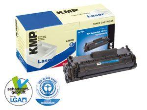 Toner KMP, kompatibel für HP 12A (Q2612A), schwarz - Produktbild 1