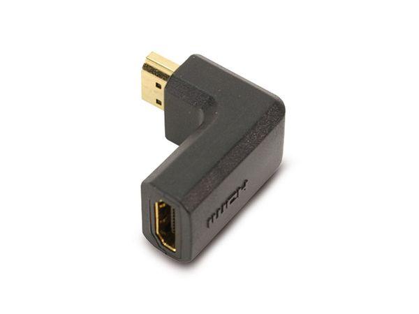HDMI-Adapter, 90° gewinkelt, schwarz, vergoldete Kontakte