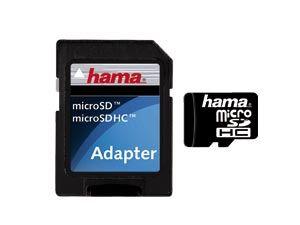 micro SDHC Card, 4 GB, HAMA HighSpeed