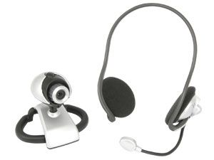 USB-Webcam mit Backphone-Headset
