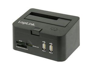 HDD-Dockingstation mit Hub und Cardreader, USB 2.0 - Produktbild 1