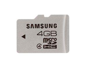 micro SDHC Card, 4 GB, SAMSUNG - Produktbild 1