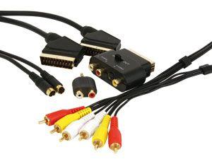 TV-Kabel-Kit mit vergoldeten Steckern, 1,5/5 m