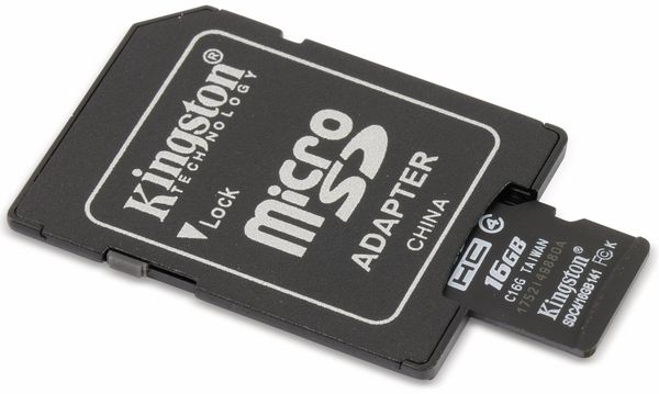 MicroSDHC Card KINGSTON SDC4, 16 GB - Produktbild 3