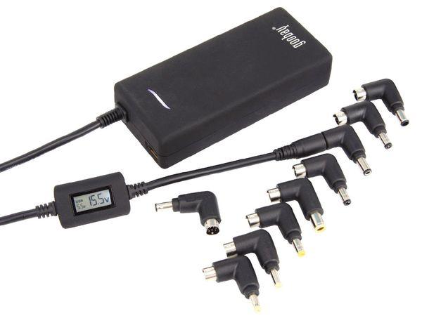 Laptop-Netzteil mit Display und USB-Port, 90 W - Produktbild 1
