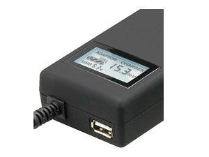 Laptop-Netzteil mit Display und USB-Port, 90 W - Produktbild 2