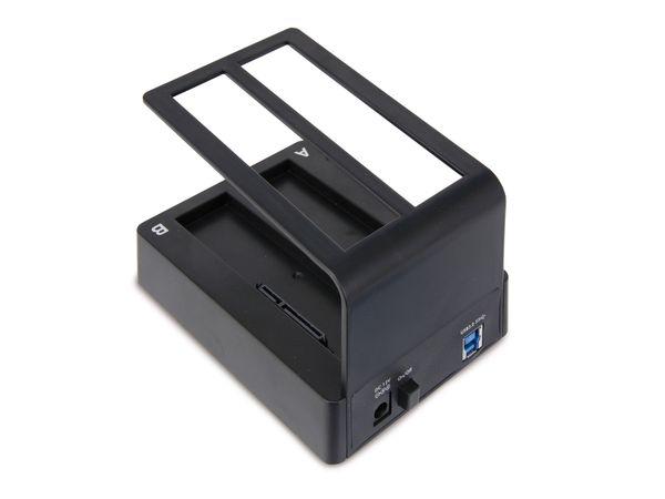 Dual-HDD-Dockingstation, USB 3.0 zu 2x SATA - Produktbild 2