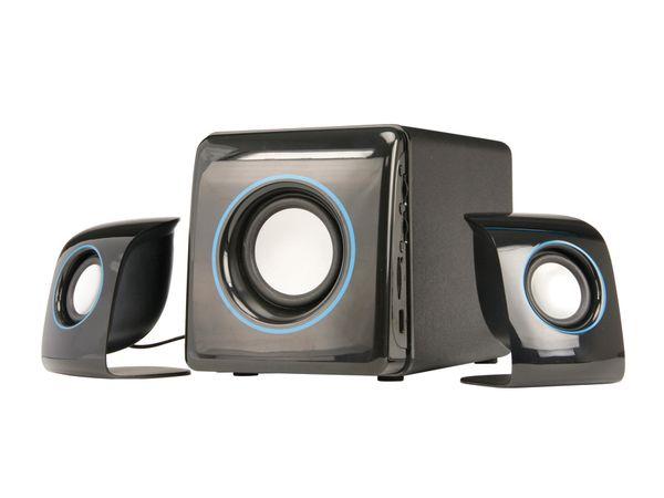 Subwoofer-System mit MP3-Player ER-2066, 2.1 - Produktbild 1