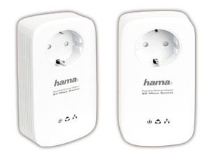Powerline Adapter-Set HAMA 53143, 85 Mbps - Produktbild 1