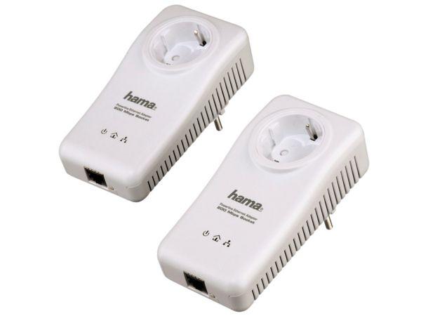 Powerline-Set mit Steckdosen HAMA 53141, 200 Mbps - Produktbild 1