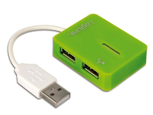 USB-Hub LOGILINK Smile, grün