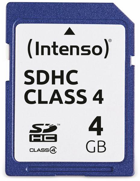 SDHC Card INTENSO, 4 GB, Class 4 - Produktbild 1