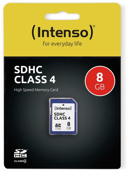 SDHC Card INTENSO, 8 GB, Class 4 - Produktbild 2