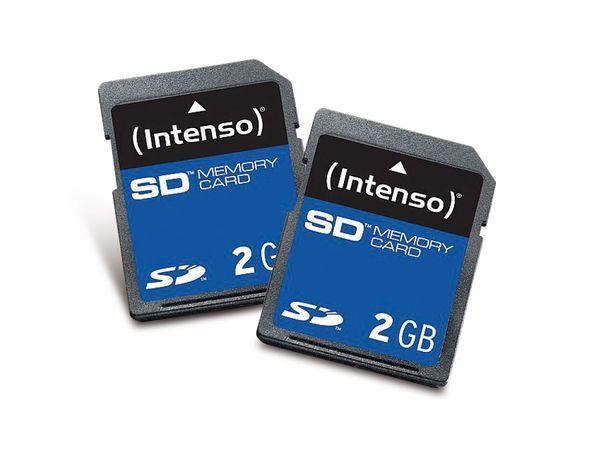 SD Card, 2 GB, INTENSO, 2 Stück - Produktbild 1