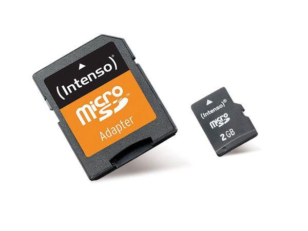 micro SD Card, 2 GB, INTENSO - Produktbild 1
