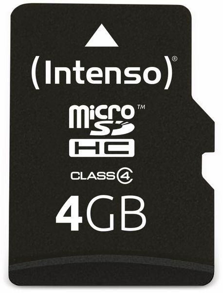 MicroSDHC Card, 4 GB, INTENSO - Produktbild 1