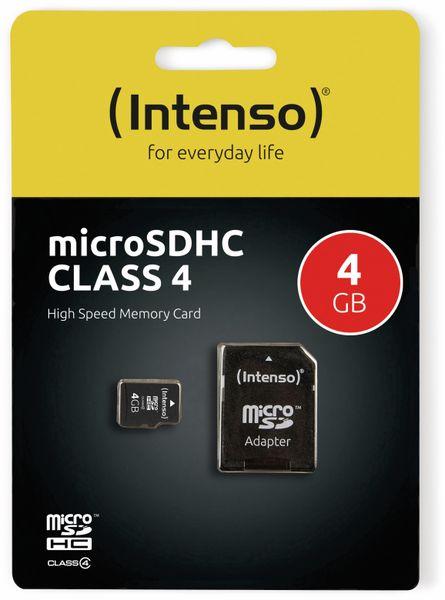 MicroSDHC Card, 4 GB, INTENSO - Produktbild 2