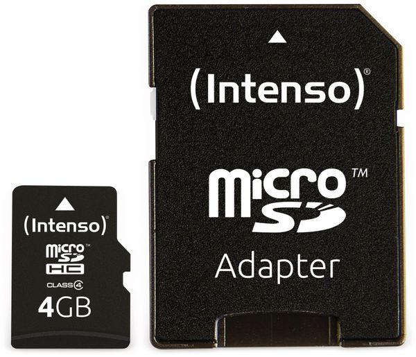 MicroSDHC Card, 4 GB, INTENSO - Produktbild 3