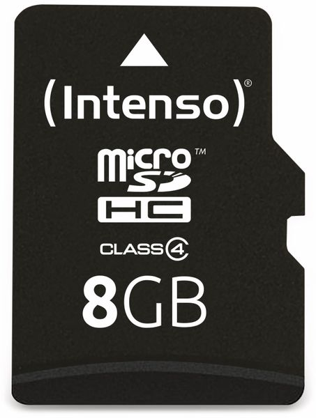 MicroSDHC Card, 8 GB, INTENSO - Produktbild 1