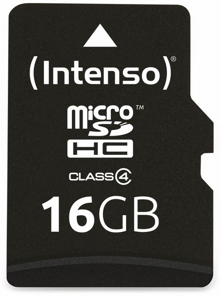 MicroSDHC Card INTENSO, 16 GB - Produktbild 1
