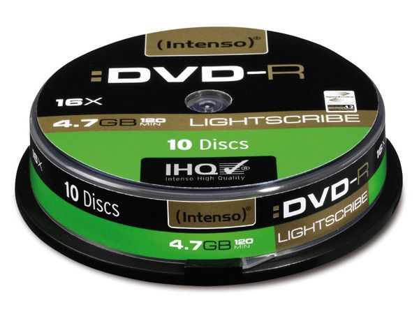 DVD-R Spindel INTENSO (LightScribe)