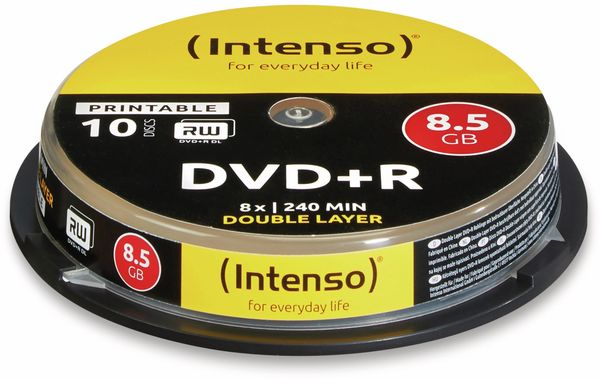 DVD+R Spindel Intenso (Doublelayer bedruckbar)