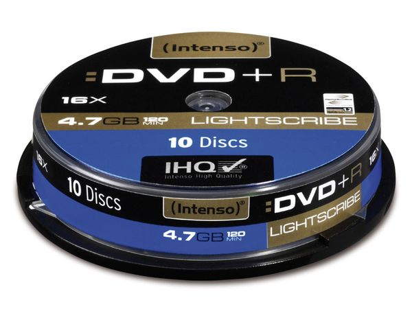 DVD+R Spindel Intenso (LightScribe)