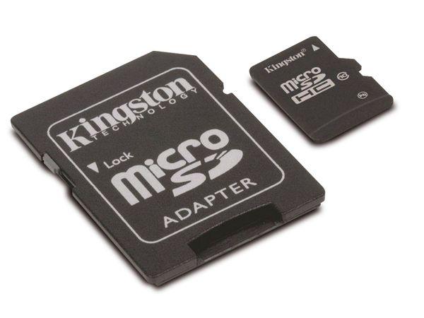 MicroSDHC Card, 4 GB, KINGSTON SDC10/4GB - Produktbild 1