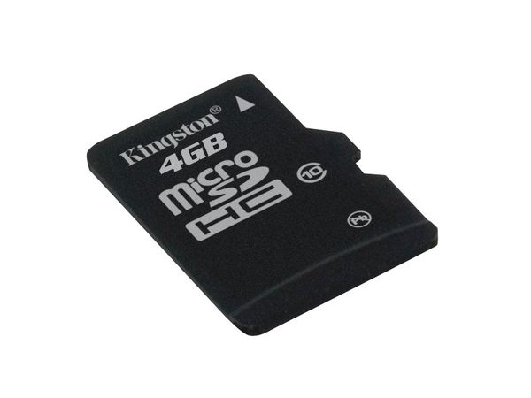 MicroSDHC Card, 4 GB, KINGSTON SDC10/4GB - Produktbild 2