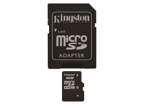 MicroSDHC Card, 4 GB, KINGSTON SDC10/4GB - Produktbild 4