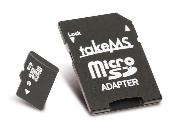 micro SDHC Card, 4 GB, takeMS