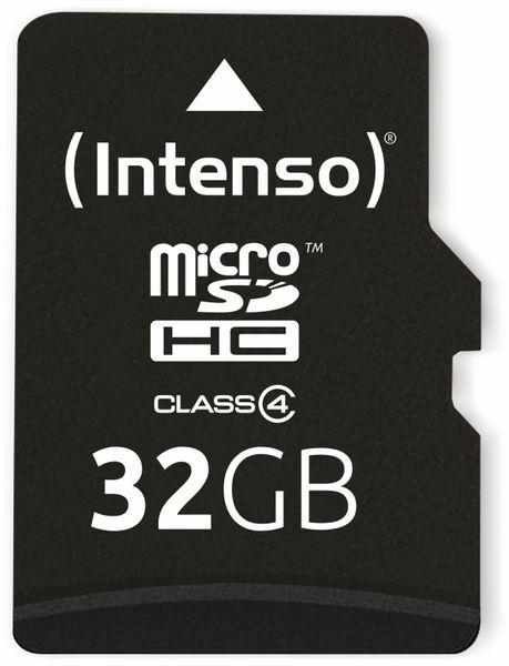 MicroSDHC Card, 32 GB, CLASS 4, INTENSO