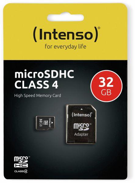 MicroSDHC Card, 32 GB, CLASS 4, INTENSO - Produktbild 2