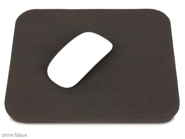 Maus-Pad, 250x220 mm, schwarz