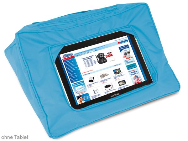 Tablet-Kissen, aqua - Produktbild 1