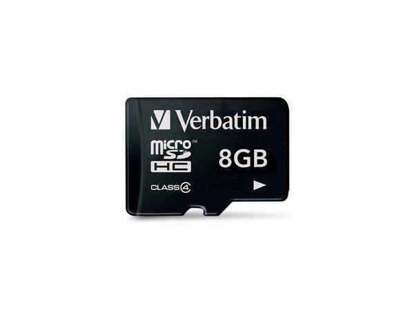 MicroSDHC Card VERBATIM 44004, 8 GB