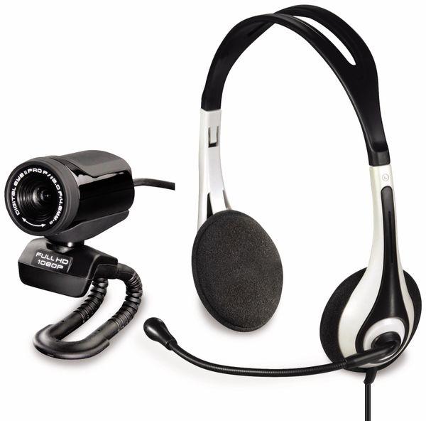 HD-Webcam HAMA Digital Eye II Pro 53956, mit Headset - Produktbild 1