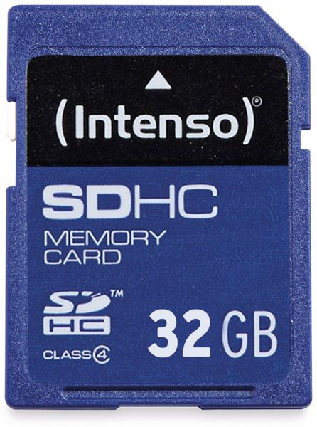 SDHC Card INTENSO, 32 GB, Class 4 - Produktbild 1