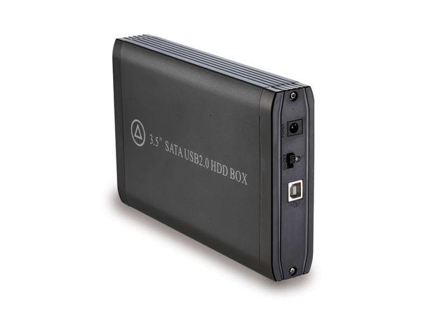 Festplatten-Gehäuse EASY BOX, USB 2.0 zu SATA, schwarz