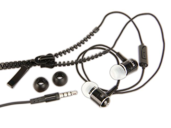 In-Ear Headset LOGILINK HS0021 Zipper, schwarz
