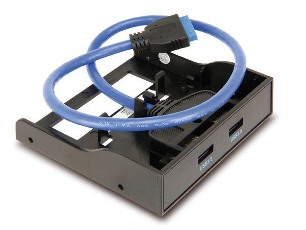 USB 3.0 Frontpanel, 2-port, schwarz - Produktbild 2