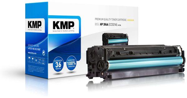 Toner KMP, kompatibel für HP 304A (CC531A), cyan