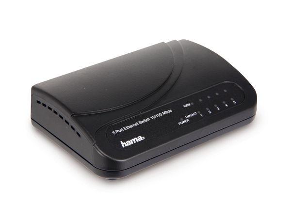 Netzwerk-Switch HAMA 49092, 10/100 Mbps, 5-Port - Produktbild 1
