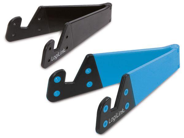Tablet-/Smartphone-Ständer, schwarz/blau