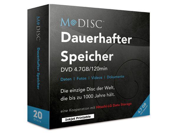 DVD+R MILLENNIATA M-DISC MIJ20PDE-ME, InkJet Printable, 20 Discs