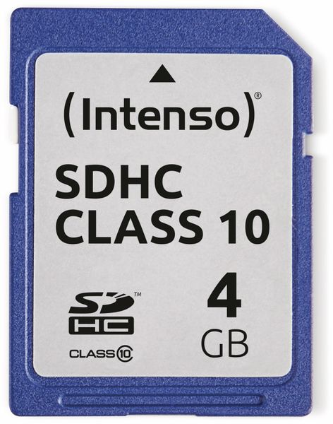 SDHC Card INTENSO 3411450, 4 GB, Class 10