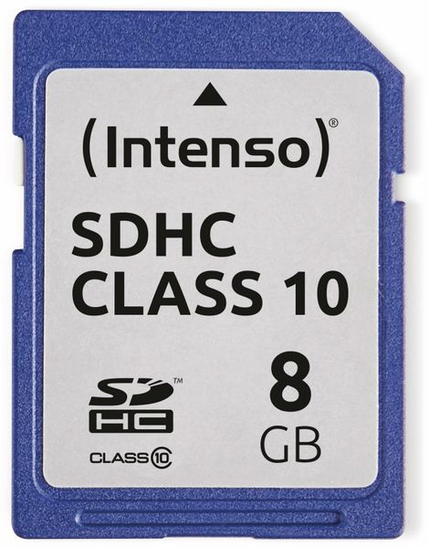 SDHC Card INTENSO 3411460, 8 GB, Class 10 - Produktbild 1