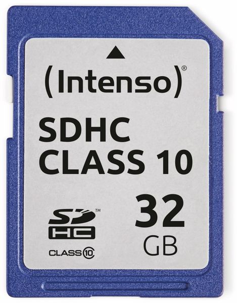 SDHC Card INTENSO 3411480, 32 GB, Class 10