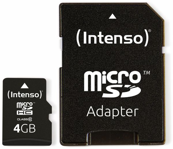 MicroSDHC Card INTENSO 3413450, 4 GB - Produktbild 3